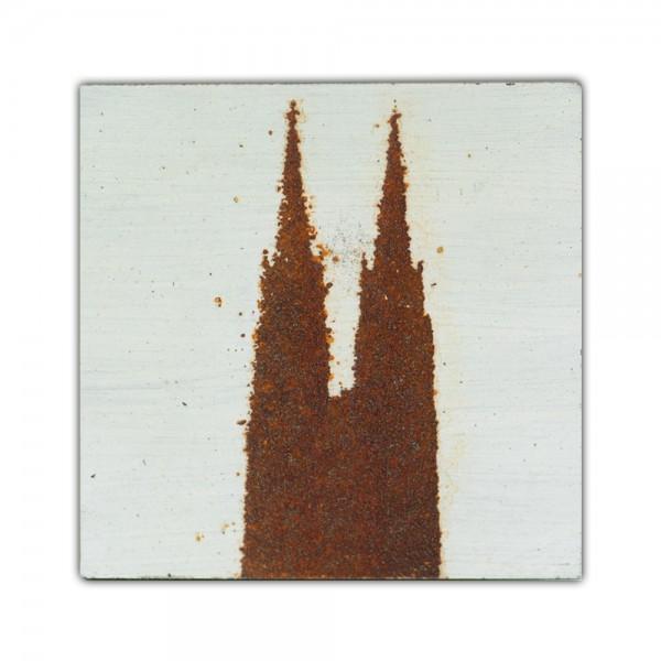 Uwe Reuter Rost Mini Dom 1, 10 x 10 cm