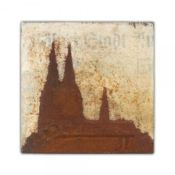 Uwe Reuter Rost Mini Dom KSTA, 10 x 10 cm