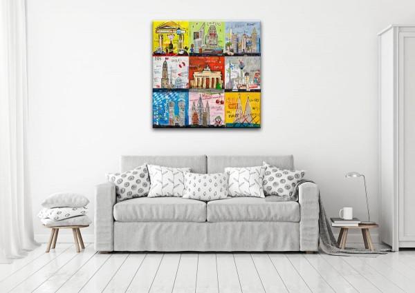 Kathrin Thiede deutsche Städte mix Collage Bild auf Leinwand