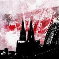 """Leinwandbild """"Der Dom in kunterbunt 8"""" von Vittorio Vitale ab 50x50 cm"""
