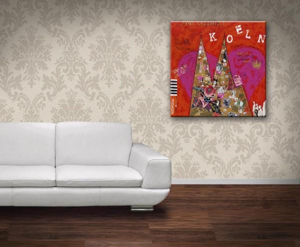 Kathrin Thiede Rotlicht Collage Bild auf Leinwand