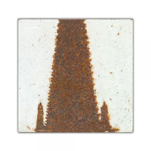 Uwe Reuter Rost Mini Dom Detail Turm 1, 10 x 10 cm