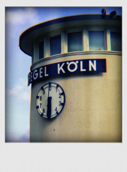 Köln Mini Polaroid Pegel auf MDF