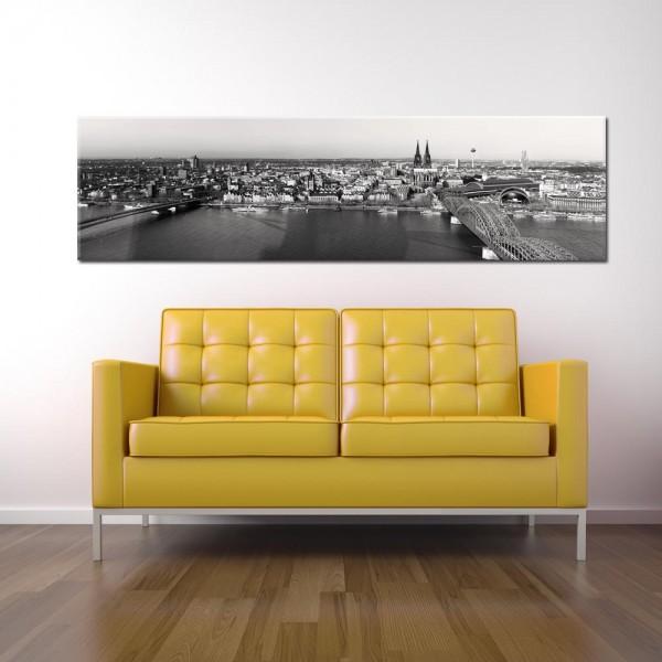 Leinwandbild Köln schwarz weiß 222 von Wolfgang Weber