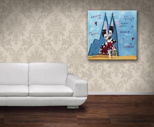 Kathrin Thiede 4711 Parfüm Collage Bild auf Leinwand