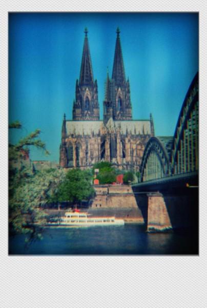 Köln Mini Polaroid Domblick II auf MDF