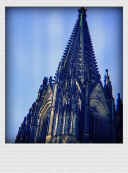 Köln Mini Polaroid Domspitze auf MDF