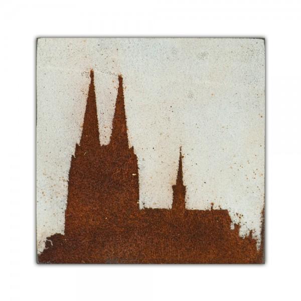 Uwe Reuter Rost Mini Dom 3, 10 x 10 cm