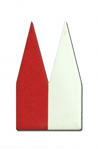 Helmut Brands Dom Einsatz Siebdruck Rot + Weiß