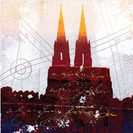 """Leinwandbild """"Der Dom in rot 8"""" von Vittorio Vitale ab 50x50 cm"""