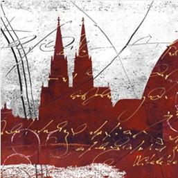 """Leinwandbild """"Der Dom in rot 7"""" von Vittorio Vitale ab 50x50 cm"""