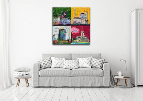Kathrin Thiede Bonn Mosaik I Collage Bild auf Leinwand