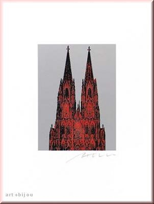 Henry Haselwanger Roter Dom auf Silber 30 Format 30x40