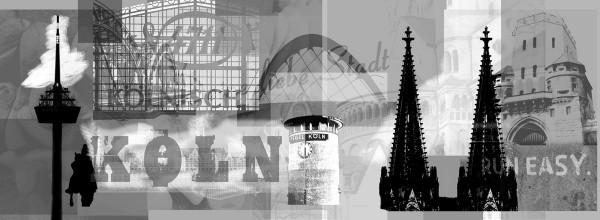 Mini Köln Deine Liebe Stadt sw auf MDF