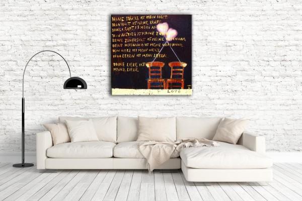 Kathrin Thiede Deine Liebe Collage Bild auf Leinwand