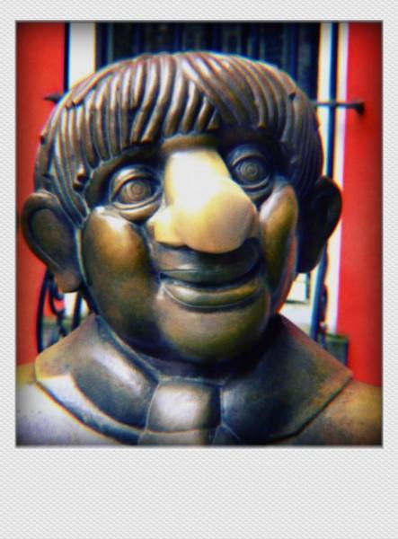Köln Mini Polaroid Tünnes auf MDF