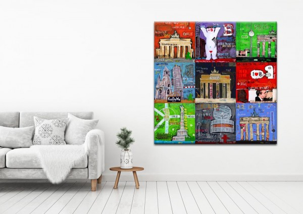 Kathrin Thiede Berlin Mosaik I b Collage Bild auf Leinwand
