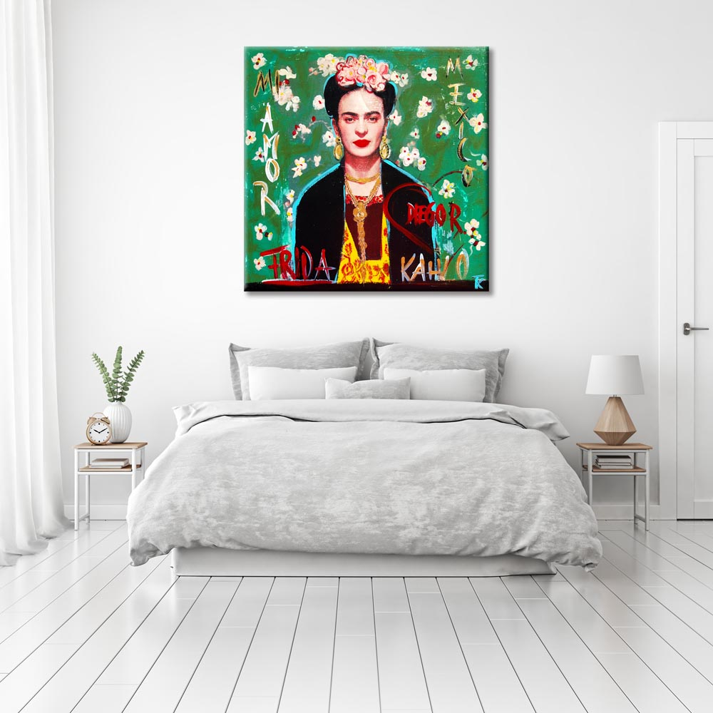 kathrin thiede frida kahlo collage bild auf leinwand. Black Bedroom Furniture Sets. Home Design Ideas