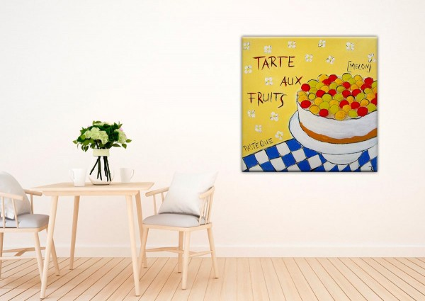 Kathrin Thiede Tarte aux Fruits Collage Bild auf Leinwand