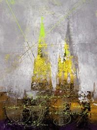 """Leinwandbild """"Der Dom in kunterbunt 6"""" von Vittorio Vitale ab 30x40 cm"""