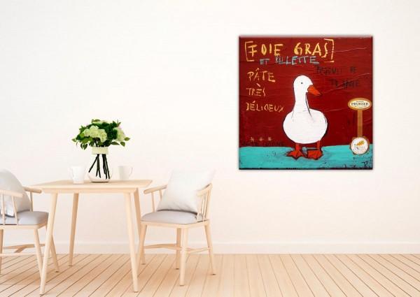 Kathrin Thiede Fois gras rot Collage Bild auf Leinwand