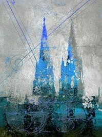 """Leinwandbild """"Der Dom in kunterbunt 4"""" von Vittorio Vitale ab 30x40 cm"""