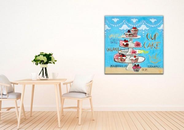 Kathrin Thiede Cupcake Collage Bild auf Leinwand