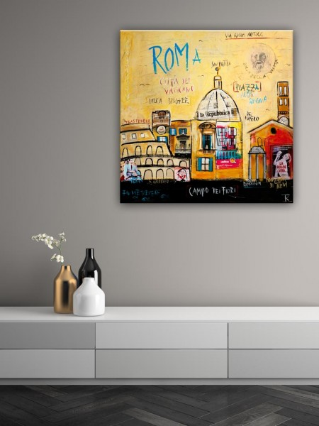 Kathrin Thiede Rom Collage Bild auf Leinwand
