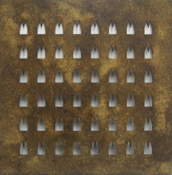 Helmut Brands Stahl Dom Unikat Grundplatte 48 Ausschnitte Rost