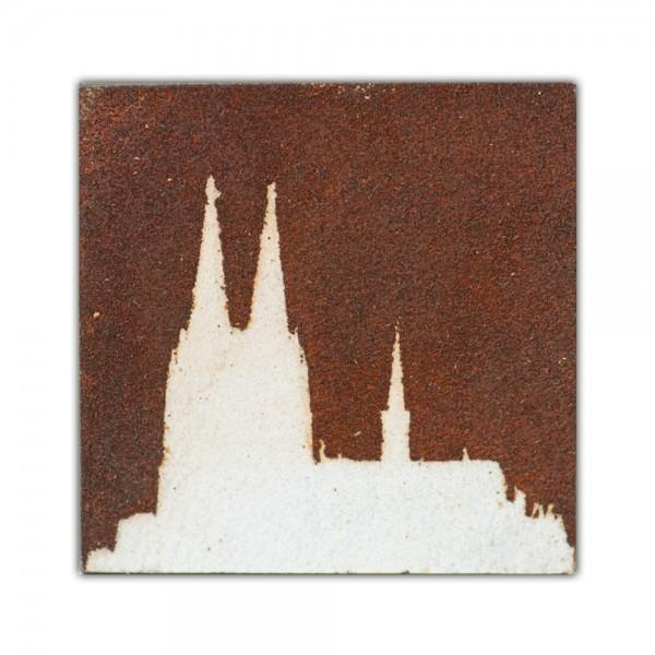 Uwe Reuter Rost Mini Dom negativ, 10 x 10 cm