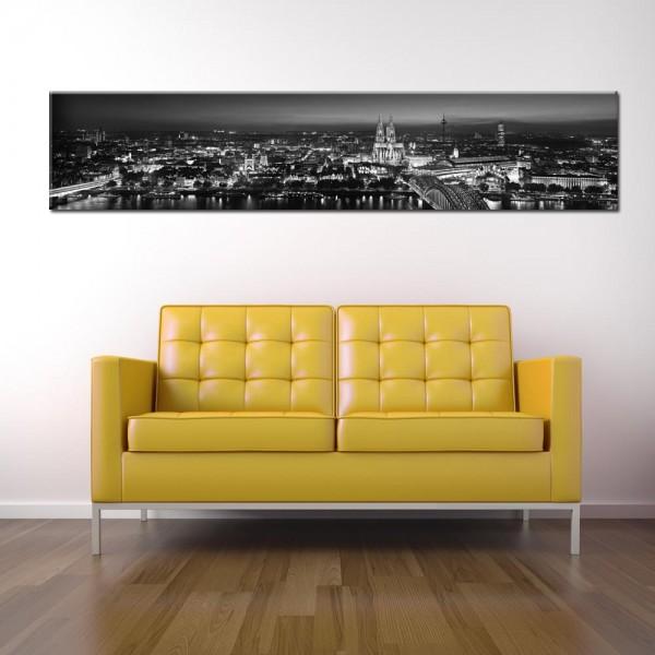 Leinwandbild Köln schwarz weiß 217 von Wolfgang Weber