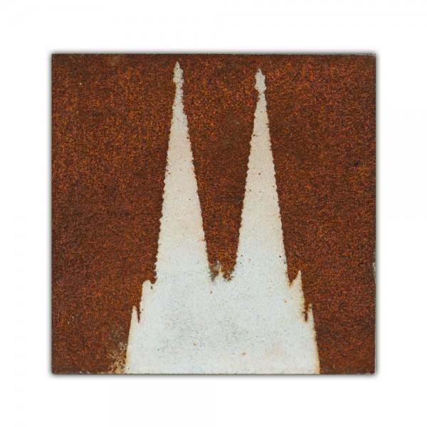 Uwe Reuter Rost Mini Domspitzen negativ, 10 x 10 cm
