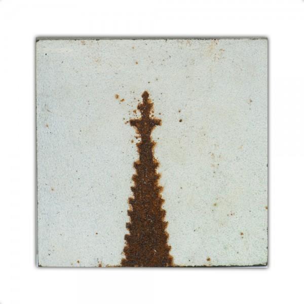 Uwe Reuter Rost Mini Dom Detail Turmspitze 1, 10 x 10 cm